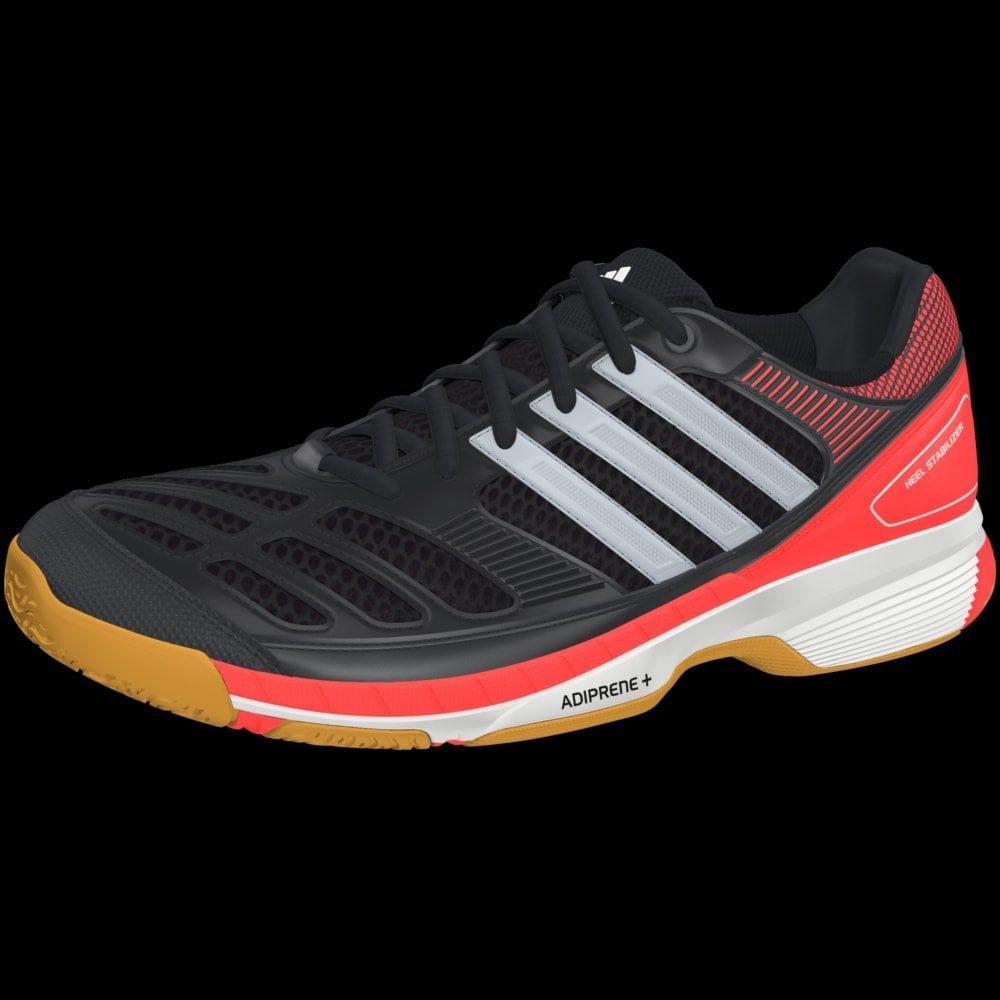 10fca75d2cb2 Adidas BT Feather Badminton Shoes White Silver Blue