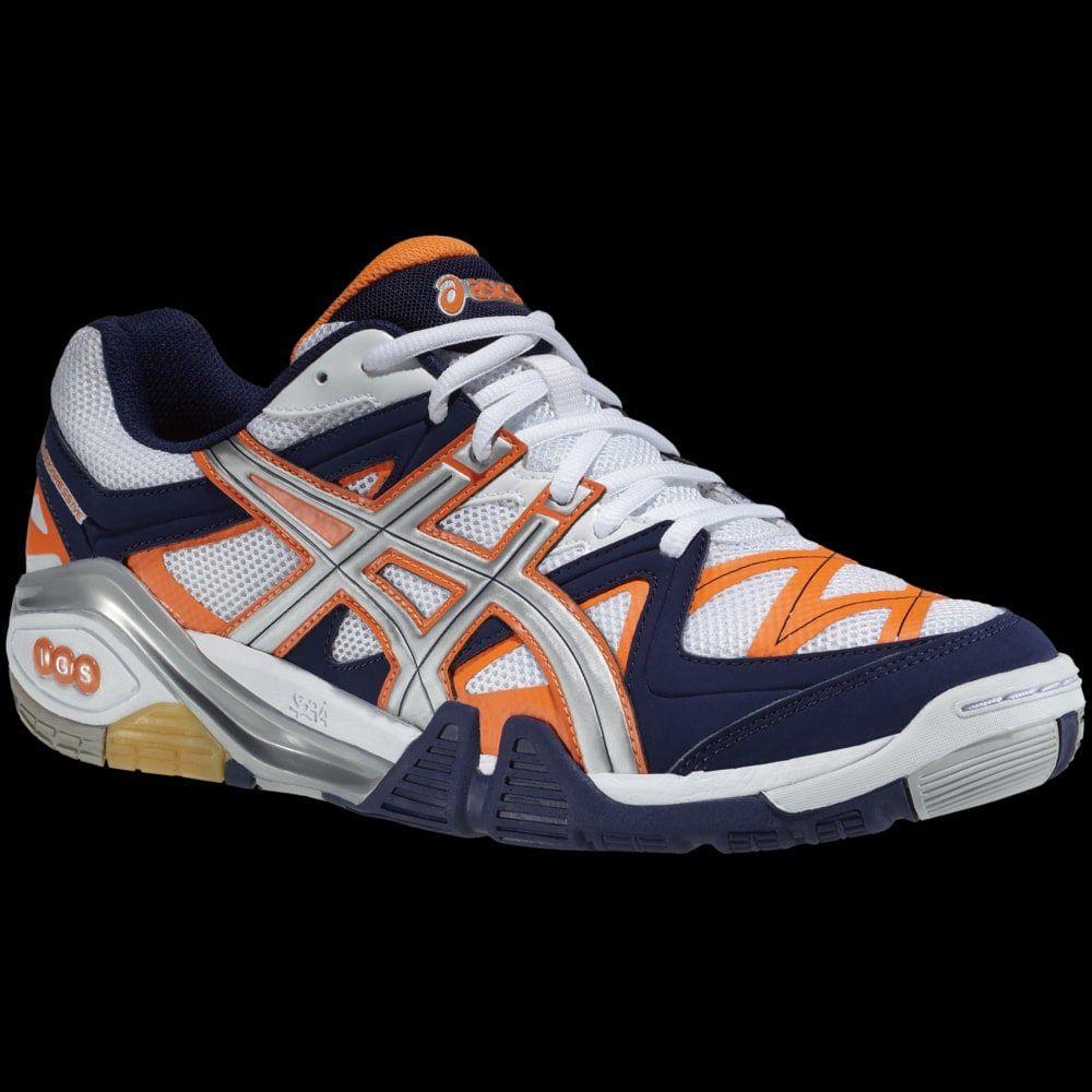 asics gel progressive 2 orange marine badminton. Black Bedroom Furniture Sets. Home Design Ideas