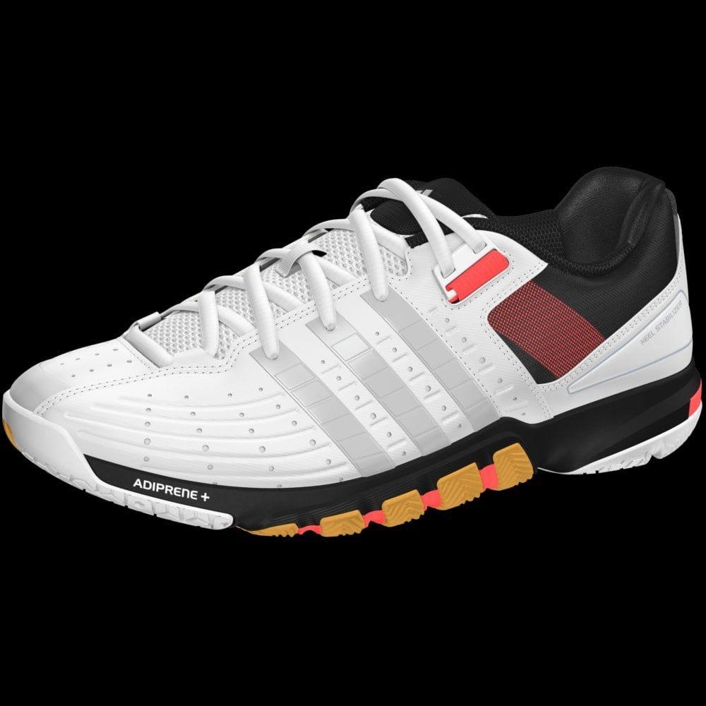 adidas Quickforce 3 Chaussures de Badminton Blanc et Gris