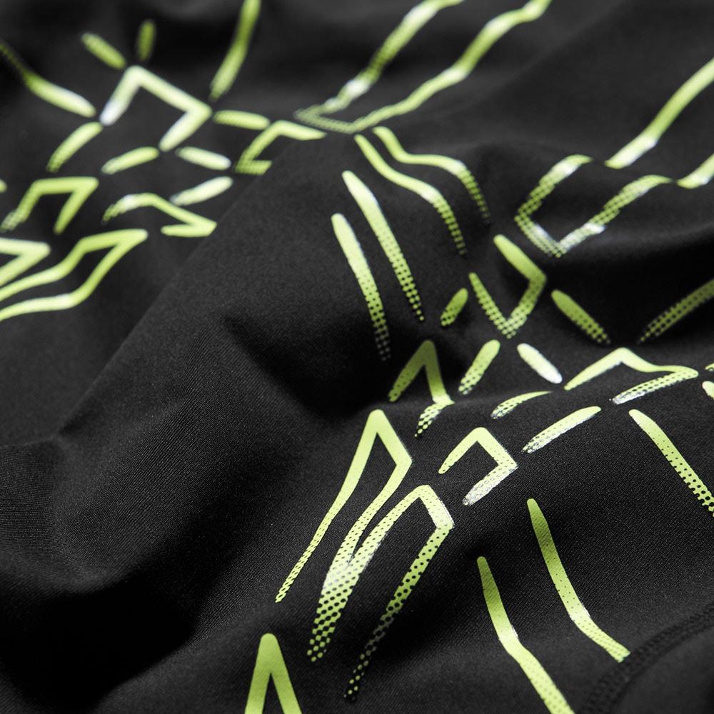 pant asics stripe tight performance men noir jaune badminton. Black Bedroom Furniture Sets. Home Design Ideas