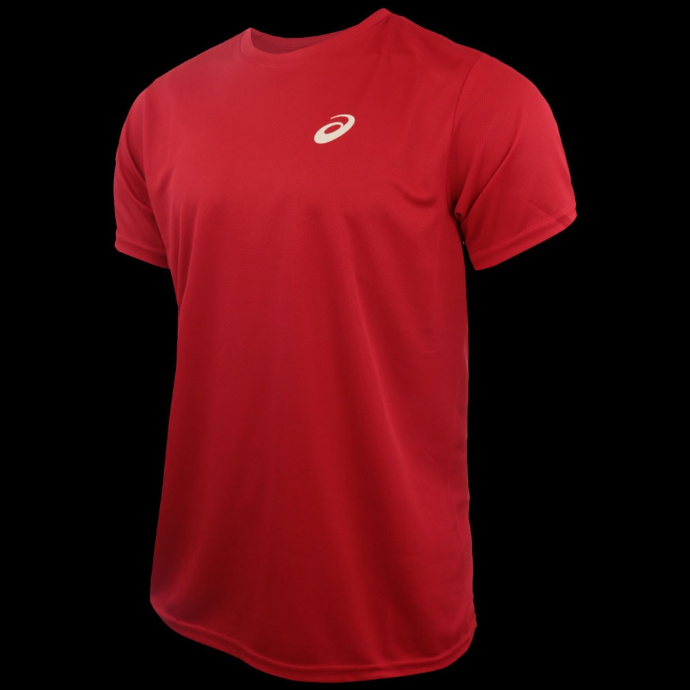 t shirt asics rouge
