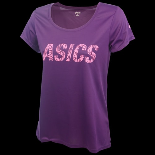 asics t shirt femme violet