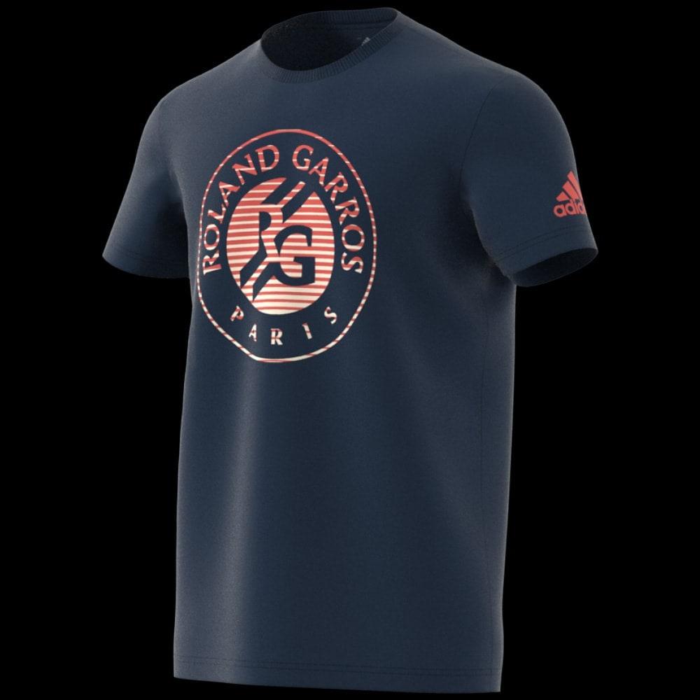 Roland 2018 Shirt Tee Marine Men Garros Adidas Logo c4jLR35Aq