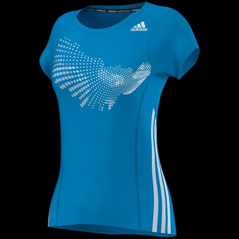 tee shirt adidas bleu femme