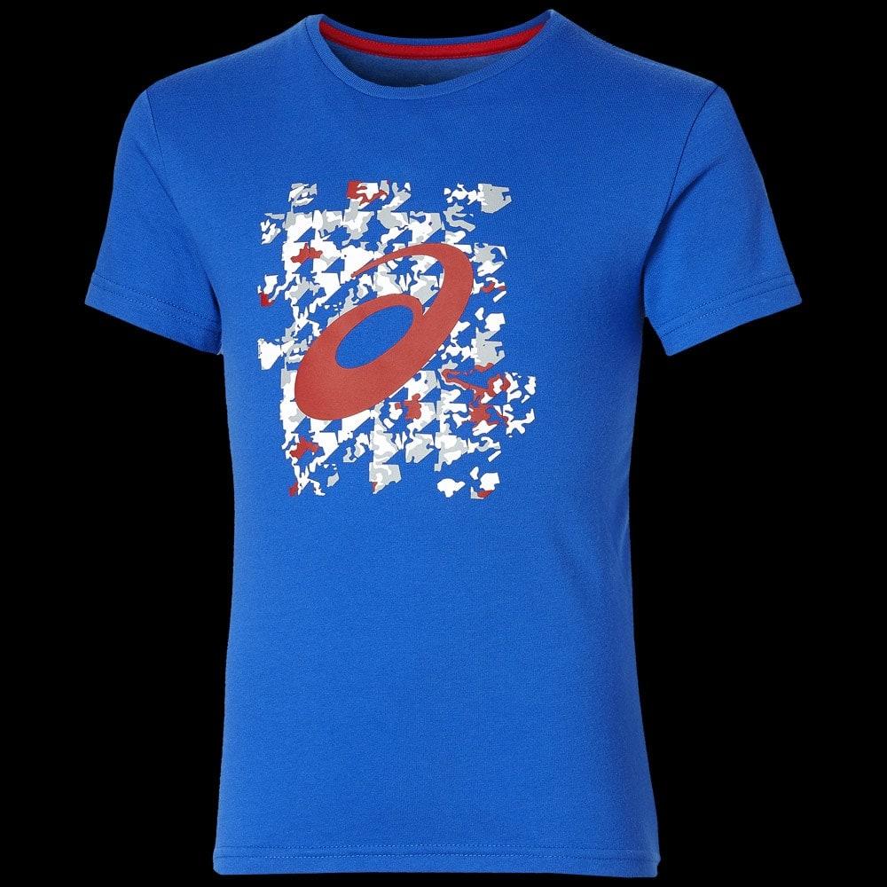tee shirt asics bleu